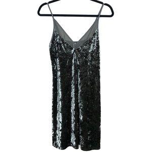 Target Xhilaration Olive Green Velvet Dress